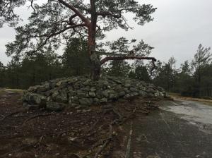 Bronsåldersgraven på Löttingelundtoppen.