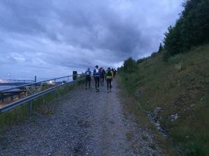 Löpningen upp ifrån Örnsköldsvik.