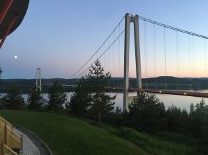 Höga Kustenbron efter målgång.