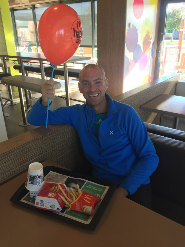 Prisutdelning på McDonalds.